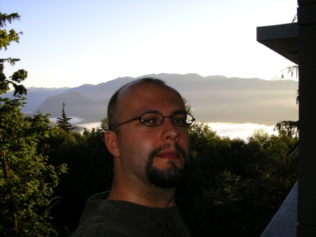 The view from my condo on Burnaby mountain